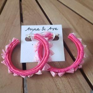 Anna & Ava Hoop Earrings NWT